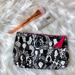 3 for $10 NWOT Ipsy Makeup Bag in Black & White